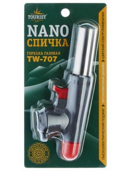Резак газовый TOURIST NANO (TW-707) с пьезоподжигом