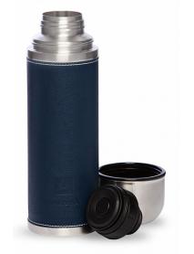 Термос АРКТИКА 108-500 0,5л (узкое горло) с кожаной вставкой, синий