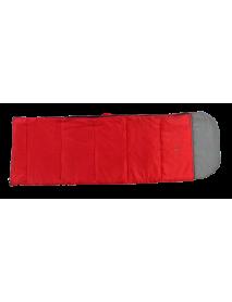 Спальный мешок Woodland CAMPING 200 (холлофайбер; +15;+7;+5; 220х75; с подголов.; красный)