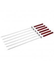 Набор шампуров BOYSCOUT плоских с дерев. ручками 55см 6 штук в упаковке