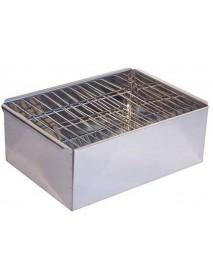 Коптильня двухъярусная (380х280х170, поддон)(Рост) (нерж.сталь 0,5мм)