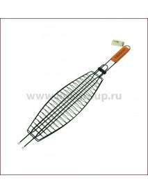 Решетка-гриль BOYSCOUT 410х135мм для рыбы большая с антипр. покрытием