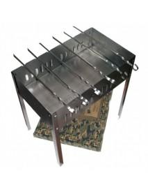 Мангал BOYSCOUT 500х300х500х0,8мм, сборный + 6 шампуров в коробке