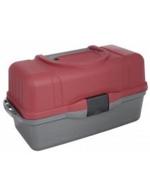 Ящик рыболова трехполочный красный HELIOS (Тонар)