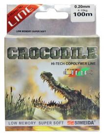 """Леска SWD """"Crocodile"""" 100м 0,2 (4,10кг) прозрачная"""
