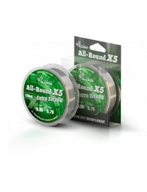 "Леска ALLVEGA ""ALL-ROUND X5"" 0.30мм (100м) (9,78кг) (прозрачная)"