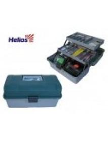 Ящик рыболова двухполочный зеленый HELIOS (Тонар)