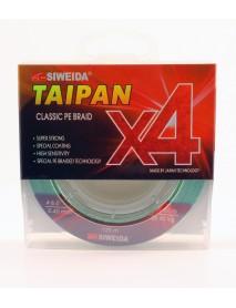 "Шнур плетеный SWD ""TAIPAN CLASSIC PE BRAID X4"" 0,40мм 135м (#6.0, 80lb, 36,40кг, light-green)"