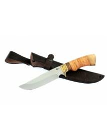 "Нож туристический ""Лорд"", сталь 65х13, береста, орех"