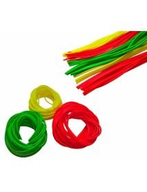 Кембрик флюор. d 0,8х1,5мм зеленый 1м (10шт.) (Три Кита)