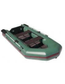 Лодка Leader ТАЙГА-290Р ПВХ зеленый, под мотор 5 л.с, реечный пол (С-Пб)