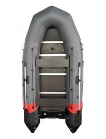 Лодка Leader ТАЙГА-320 NOVA Киль ПВХ темно-серый/красный, под мотор 10лс, увеличенный баллон 45см