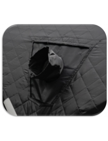Окно для палатки куб с выходом под трубу печи или теплообменника