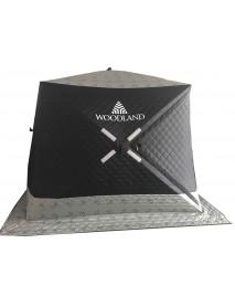 Палатка зимняя WOODLAND Ultra Long, 230х170х180 см (серо-черная)