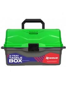 Ящик для снастей Tackle Box трехполочный NISUS зеленый