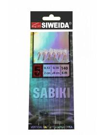 Сабики SWD №4 (Koajimarujiku №5RED- 6шт; леска 0,14;поводки 0,12 -2см /20 см) 140см