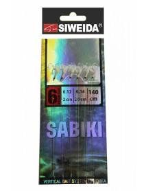 Сабики SWD №3 (Koajimarujiku №6G - 6шт; 0,14/0,12 - 20см/2см) 140см, свет в UF-лучах