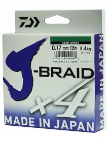 "Леска плетеная DAIWA ""J-Braid X4"" 0,17мм 135 (зеленая)"