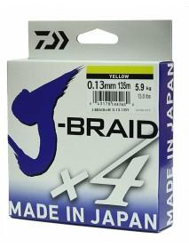 """Леска плетеная DAIWA """"J-Braid X4"""" 0,13мм 135 (желтая)"""