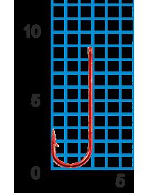 """Крючок SWD """"SCORPION"""" CHIKA №18RED W/R (10шт.)"""