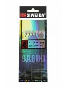 Сабики SWD №4 (Koajimarujiku №4RED- 6шт; леска 0,14;поводки 0,12 -2см /20 см) 140см
