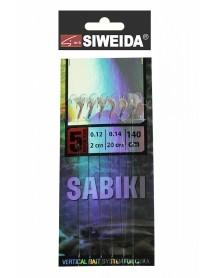 Сабики SWD №1 (Koajimarujiku №5G - 6шт; 0,14/0,12 - 20см/2см) 140см, свет. в UF-лучах