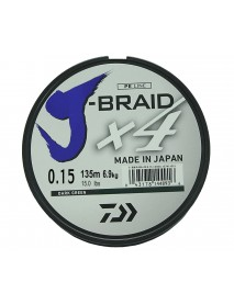 "Леска плетеная DAIWA ""J-Braid X4"" 0,15мм 135 (зеленая)"