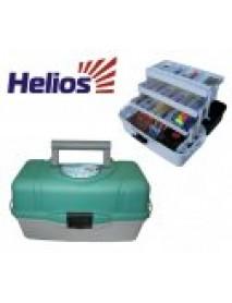 Ящик рыболова трехполочный зеленый HELIOS (Тонар)