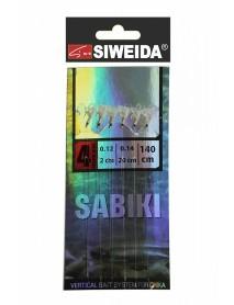 Сабики SWD №3 (Koajimarujiku №4G - 6шт; 0,14/0,12 - 20см/2см) 140см, свет в UF-лучах