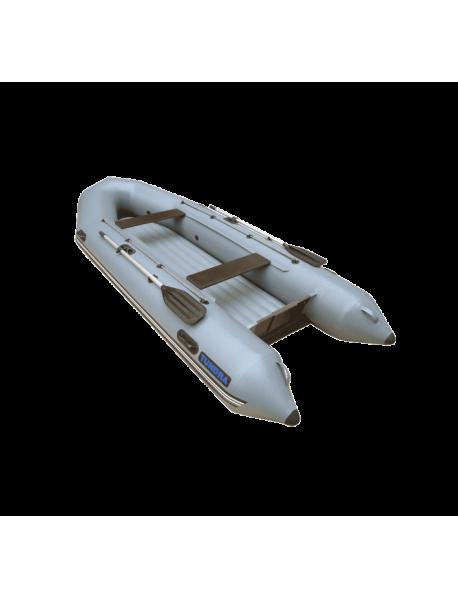 Лодка Leader ТУНДРА-380 EXTRIM ПВХ серый, под мотор 25 л.с (С-пб)