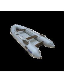 Лодка Leader ТУНДРА-380 ПВХ серый, под мотор 25 л.с (С-Пб)