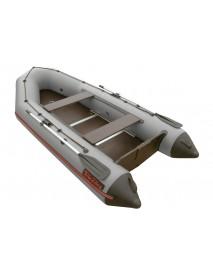 Лодка Leader ТАЙГА-320 ПВХ серый, под мотор 10 л.с. (С-Пб)