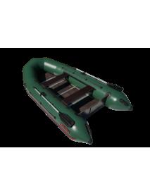 Лодка Leader ТАЙГА-340 Киль NOVA ПВХ зеленый, под мотор 15 л.с, увеличенный баллон 45 см(С-Пб) 2018