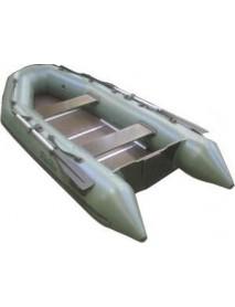 Лодка Leader ТАЙГА-320 Киль ПВХ зеленый, под мотор 10 л.с. (С-Пб)