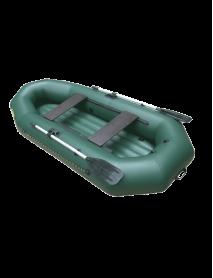 Лодка Leader КОМПАКТ-270 гребная ПВХ зеленый, надувное дно, крепление под транец (С-Пб)